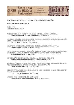Programação ST 4 - Eventos da Unicentro