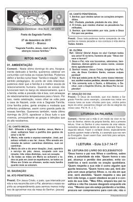Sagrada Família - Diocese de Apucarana