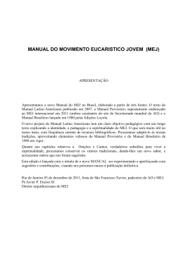 manual do movimento eucaristico jovem (mej)