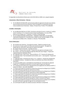 10 Reunião do Executivo - Câmara Municipal de Santarém