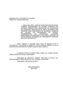 Apelação Cível n. 2013.066714-7, da Capital Relator