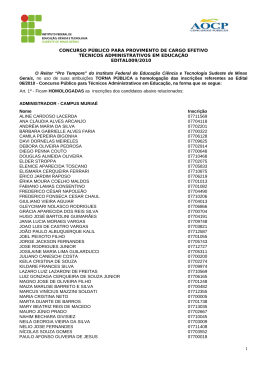 EDITAL DE CONCURSO PÚBLICO Nº 001/2006