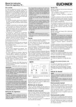 Manual de instruções Chave de segurança TZ…
