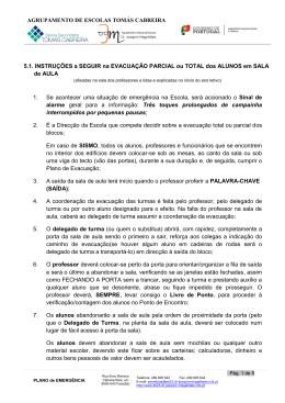 Instruções de Evacuação - Agrupamento de Escolas Tomás Cabreira
