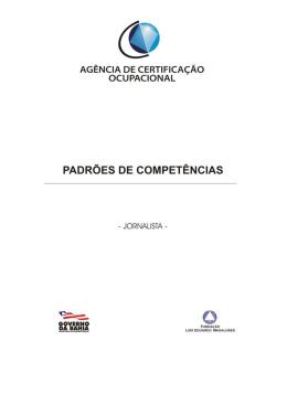 Jornalista - Agência de Certificação Ocupacional