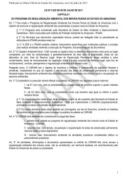 (Lei do CAR Nº 3.635 de 06 de julho de 2011)