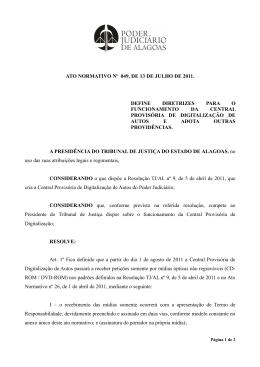 ATO NORMATIVO Nº 049, DE 13 DE JULHO DE 2011. DEFINE