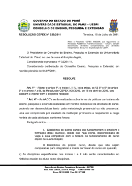 Resolução CEPEX N° 028.2011