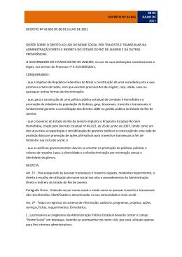 Decreto nº 43.065 de 08 de Julho de 2011