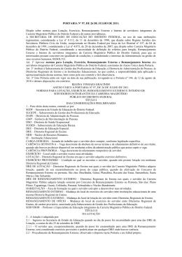 PORTARIA Nº 97, DE 26 DE JULHO DE 2011 - sinpro-df