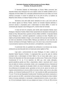 Relatório do Seminário do Piauí