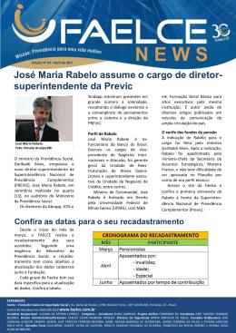 José Maria Rabelo assume o cargo de diretor