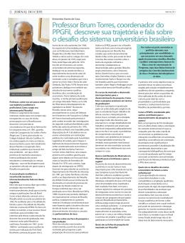 Leia entrevista com o professor João Carlos Brum Torres