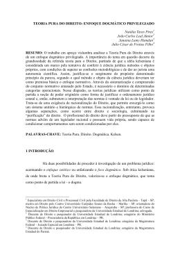TEORIA PURA DO DIREITO: ENFOQUE DOGMÁTICO