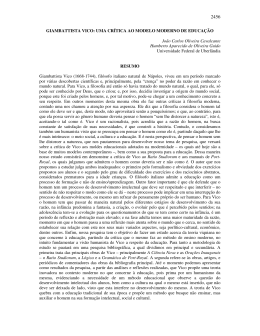 GIAMBATTISTA VICO - Universidade Federal de Uberlândia