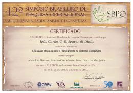 João Carlos C. B. Soares de Mello