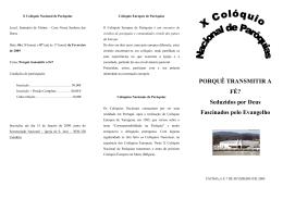 X Colóquio Nacional de Paróquias