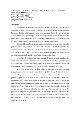 EDUCAÇÃO DO CAMPO: POLÍTICAS E PRÁTICAS EM SANTA