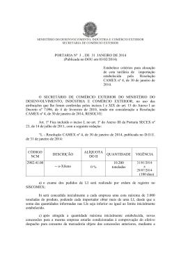PORTARIA Nº 3 , DE 31 JANEIRO DE 2014 (Publicada no DOU em
