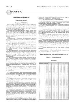 Tabelas de Retenção na Fonte IRS (2014)