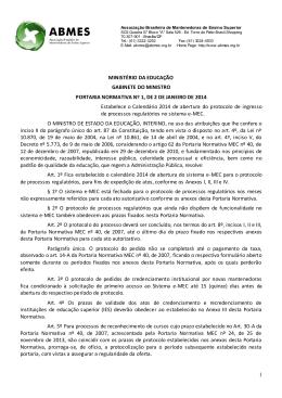 Portaria Normativa nº 1, de 02-01-2014