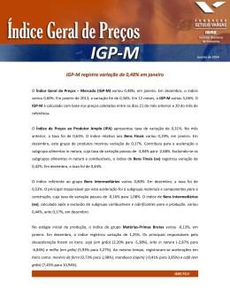 IGP-M – Janeiro de 2014 - BCF Administradora de Bens