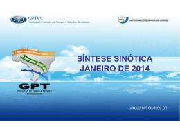 SÍNTESE SINÓTICA JANEIRO DE 2014