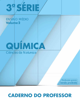 Caderno do Professor - Química - Vol. 2