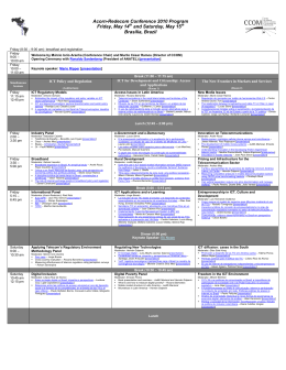 Acorn-Redecom Conference 2010 Program Friday, May 14th and
