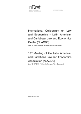 13th Meeting of the Latin American and Caribbean Law and
