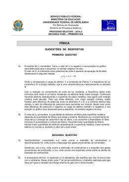 FÍSICA - Diretoria de Processos Seletivos