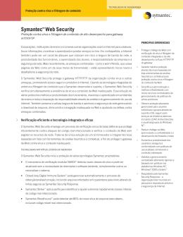 Folheto - Symantec