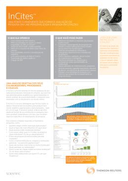 InCites™ - Research Analytics