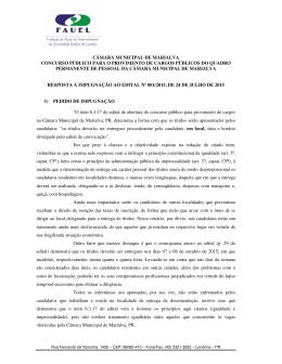 resposta à impugnação ao edital nº 001/2015, de 24 de julho de 2015