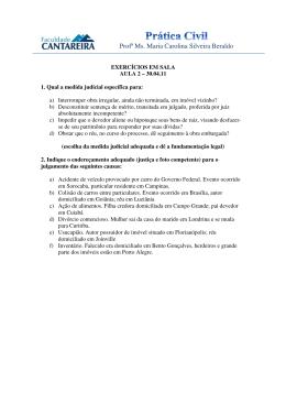Questões e peça prática - Aula 2