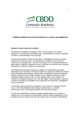 1 O DEBATE SOBRE POLÍTICAS DE DROGAS E A