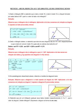 1) Dado o triângulo ABC e sabendo que o lado a mede 16, o lado b