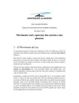 O Movimento da Lua - Universidade da Madeira