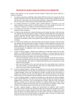 Resolução do quebra-cabeça do Informe Liceu