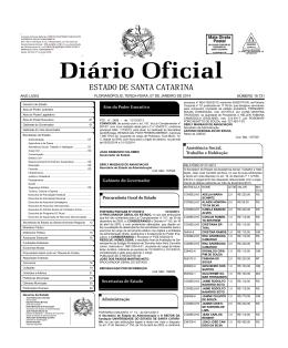 FLORIANÓPOLIS, TERÇA-FEIRA, 07 DE JANEIRO