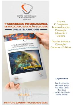 Atas do 1º Congresso Internacional de Psicologia, Educação e