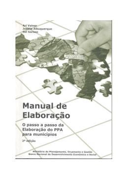 MINISTÉRIO PÚBLICO Manual de elaboração do PPA nos