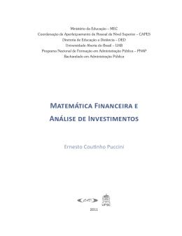 livro matemática financeira e análise de - UEPB