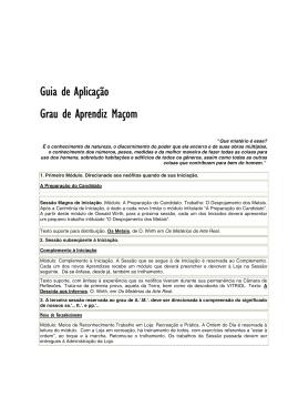 Guia Aprendiz Maçom - Ir Bruno Carraveta - Sem