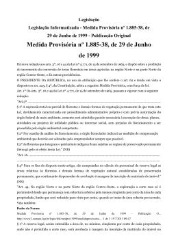 Medida Provisória nº 1.885-38, de 29 de Junho de 1999