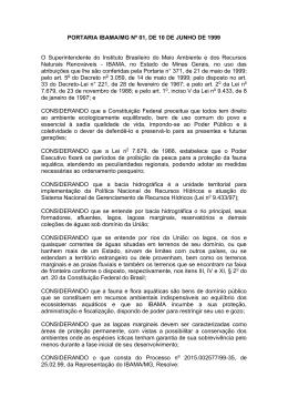 PORTARIA IBAMA/MG NO 1, DE 10 DE JUNHO DE 1999