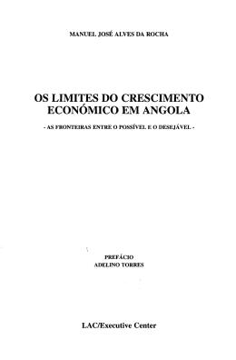 OS LIMITES DO CRESCIMENTO ECONÓMICO EM ANGOLA