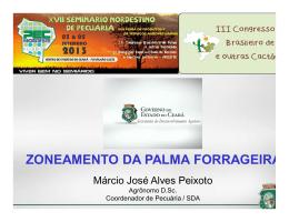 Zoneamento da Palma Forrageira – Márcio José Alves Peixoto