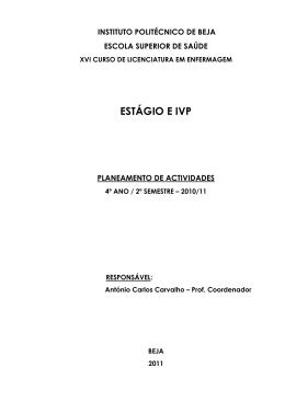 ESTÁGIO E IVP - Instituto Politécnico de Beja