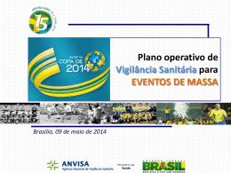 Plano operativo de Vigilância Sanitária para EVENTOS DE